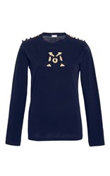 Alexis Mabille Embroidered Epaulette T Shirt Navy