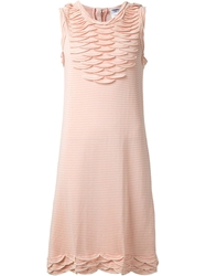 Chanel Vintage Scalloped Chest Dress Pink And Purple
