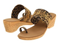 Onex Ring Brown Leopard Women's Wedge Shoes Animal Print