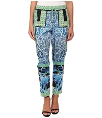 Hale Bob South Beach Blooms Pants Lime Women's Casual Pants Green