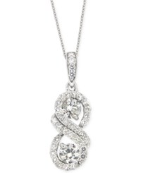 Macy's Diamond Infinity Pendant Necklace 1 Ct. T.W. In 14K White Gold