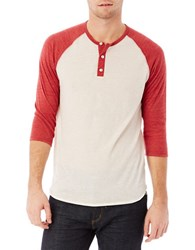 Alternative Apparel Colorblock Henley Tee Ivory