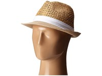 Steve Madden Two Weave Banded Fedora White Fedora Hats