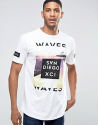 Pull And Bear Pullandbear T Shirt In White With San Diego Print White