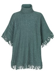 Fat Face Blythe Poncho Steel