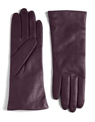Lord And Taylor Leather Gloves Amethyst