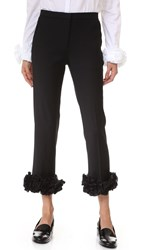 Victoria Beckham Appliqued Tailored Trousers Black