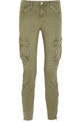L'agence Montgomery Stretch Cotton Twill Skinny Pants Army Green