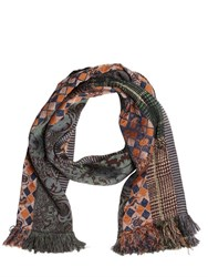Etro Wool And Cashmere Blend Jacquard Scarf