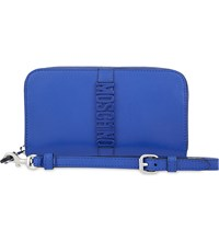 Moschino Logo Leather Wallet Cobalt Blue