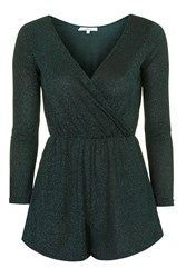 Wrap Over Playsuit By Glamorous Petites Black