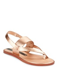 Matt Bernson Athena Sandals Rose Gold