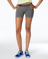 Material Girl Active Juniors' Printed Pull On Shorts Only At Macy's Heather Platinum