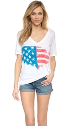 Painted Flag Chaser Top White