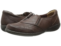 Soft Style Jennica Dark Brown Tumbled Leather Women's Flat Shoes