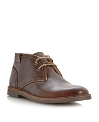 Bertie Clunk Warm Lined Lace Up Desert Boots Brown