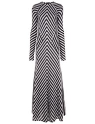 Haider Ackermann Monochrome Mohair Chevron Stripe Dress Black
