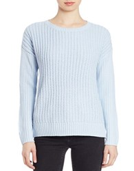 Lord And Taylor Petite Knit Crewneck Sweater Skyway