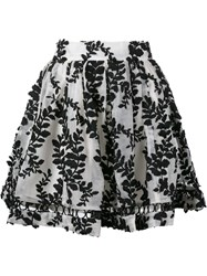 Zimmermann 'Winsome' Vine Embroidered Skirt Black