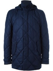 Canali Quilted Coat Blue