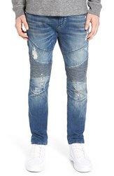 True Religion Men's Big And Tall 'Rocco' Slim Fit Moto Jeans Blue