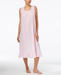 Miss Elaine Ruffle Trim Nightgown Pink Paisley