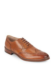 Johnston And Murphy Carriker Leather Wingtip Oxfords Tan