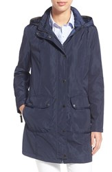 Women's Larry Levine Hooded Anorak Navy