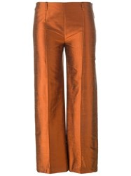 Romeo Gigli Vintage Cropped Trousers Yellow And Orange