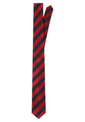 Pier One Tie Navy Red Dark Blue
