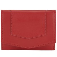 John Lewis Emily Leather Card Holder Red
