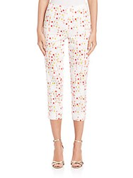 Piazza Sempione Printed Cotton Audrey Pants Coral Print