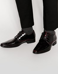 New Look Derby Shoes In Dark Burgandy Burgundy