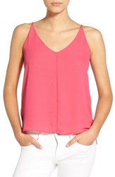Junior Women's Bp. V Neck Crepe Camisole Pink Cyclamen