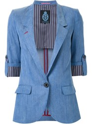 Guild Prime Chambray Blazer Blue