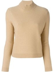 Tory Burch Turtleneck Sweater Nude And Neutrals