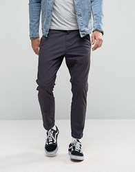 Dr. Denim Dr Diggler Tapered Chino With Turn Up Dark Grey