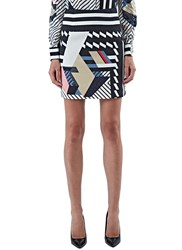 Preen Kahia Short Stripe Skirt Black