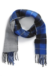The Rail Plaid Double Face Scarf Cobalt Black