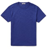 Alex Mill Slim Fit Slub Cotton Jersey T Shirt Blue