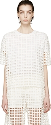 Each X Other White Net Eyelet T Shirt