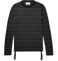Maison Martin Margiela Striped Stretch Jersey T Shirt Black