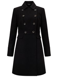 Miss Selfridge Double Breasted Coat Black
