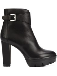 Santoni High Heel Ankle Boots Black