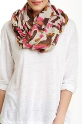 Blue Pacific Oversized Brushed Camo Scarf Pink