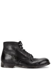 Dolce And Gabbana Black Distressed Leather Boots