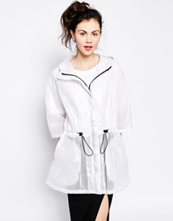 Monki Rain Mac White