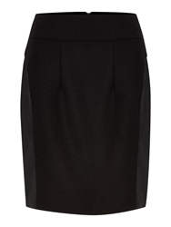 Therapy Pu Wool Panel Skirt Black