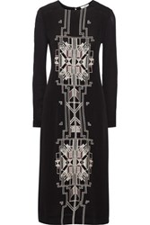 Day Birger Et Mikkelsen Embroidered Crepe Dress Black