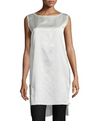 Donna Karan Sleeveless Split Hem Tunic Chalk